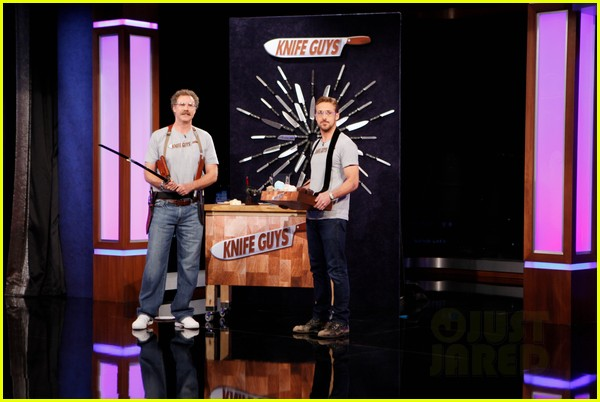 ryan gosling will ferrell knife guys for jimmy kimmel live 07