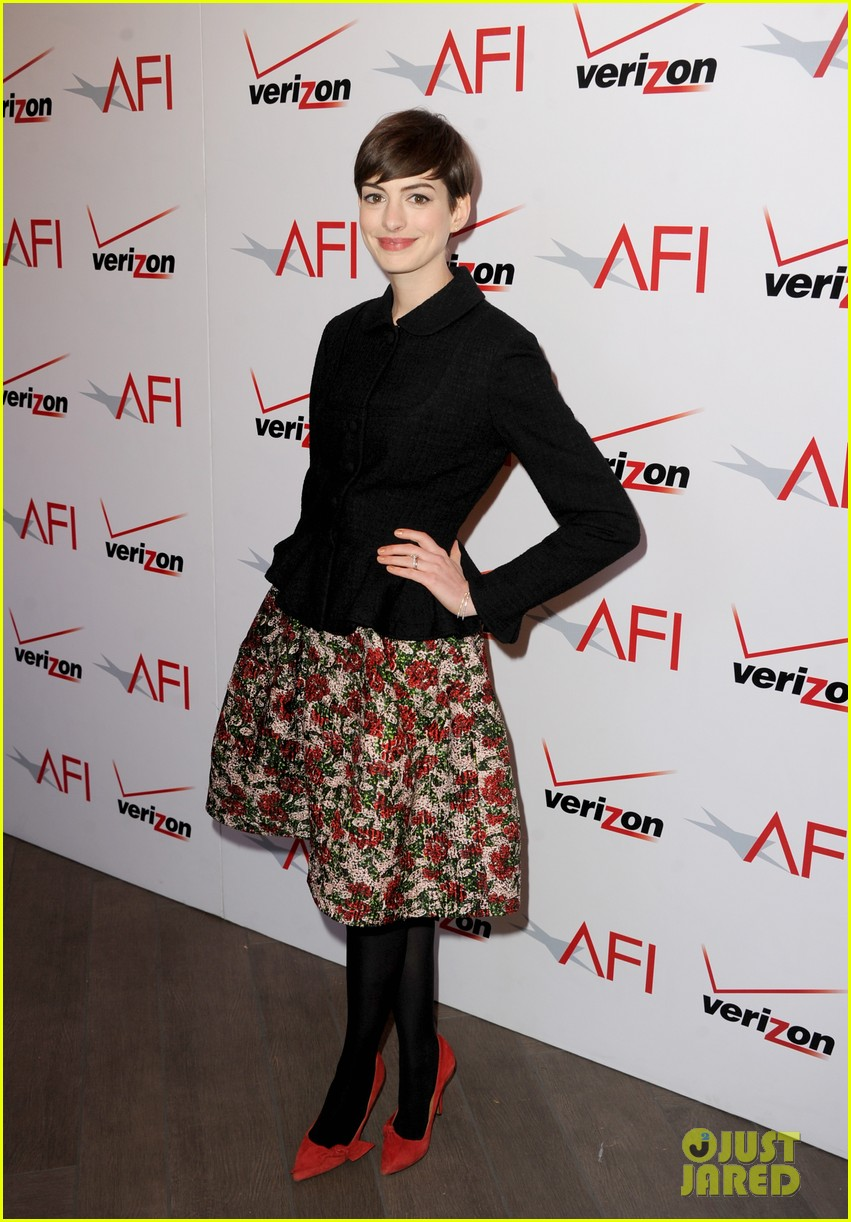 anne hathaway afi awards 2013 red carpet 05