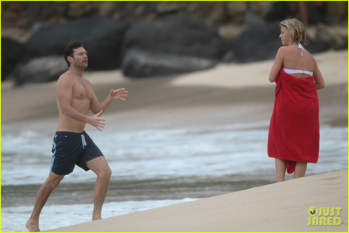 julianne hough bikini swimming with shirtless ryan seacrest 37