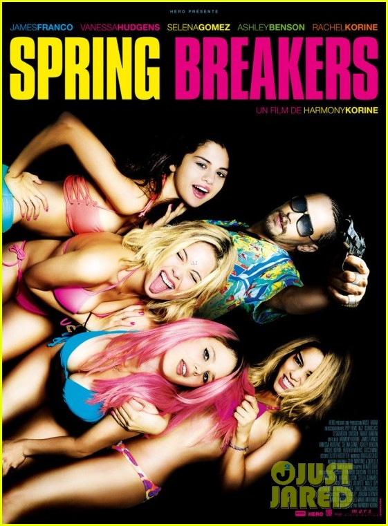 vanessa hudgens selena gomez new spring breakers poster 01