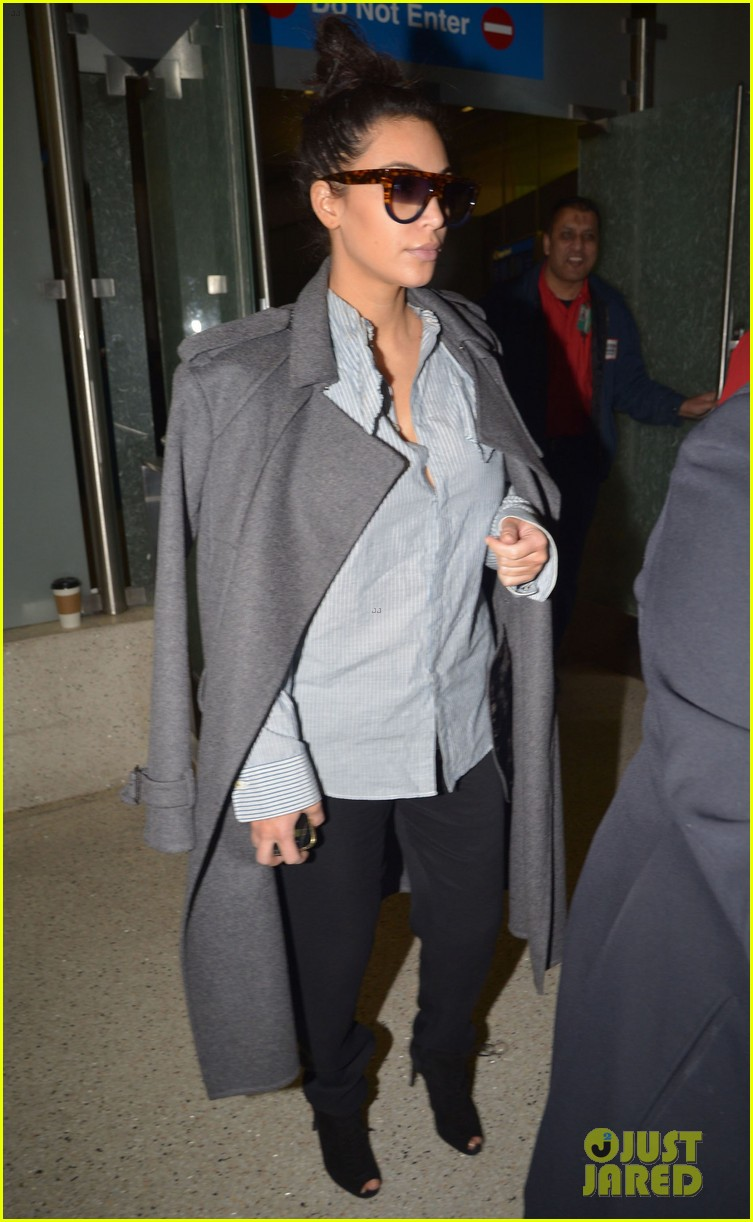 kim kardashian back from paris 20