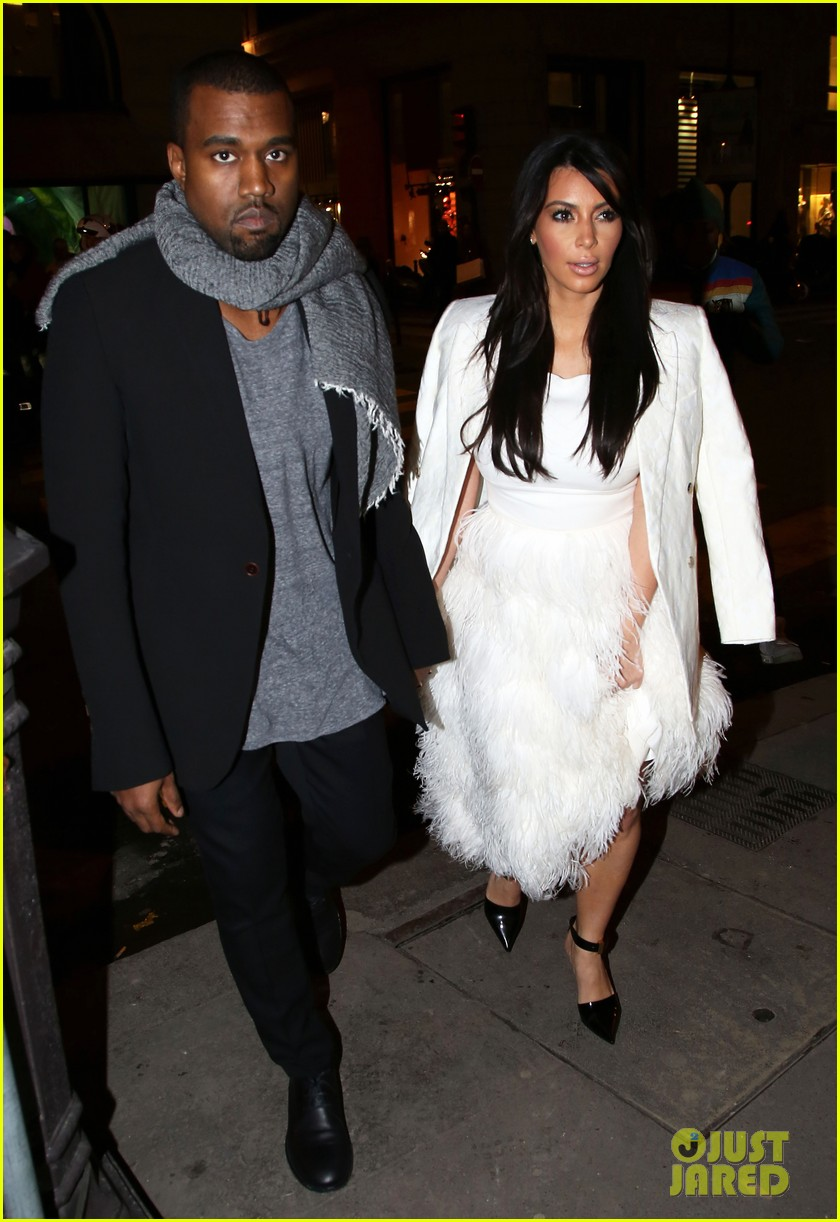 kim kardashian kanye west day off in paris 06