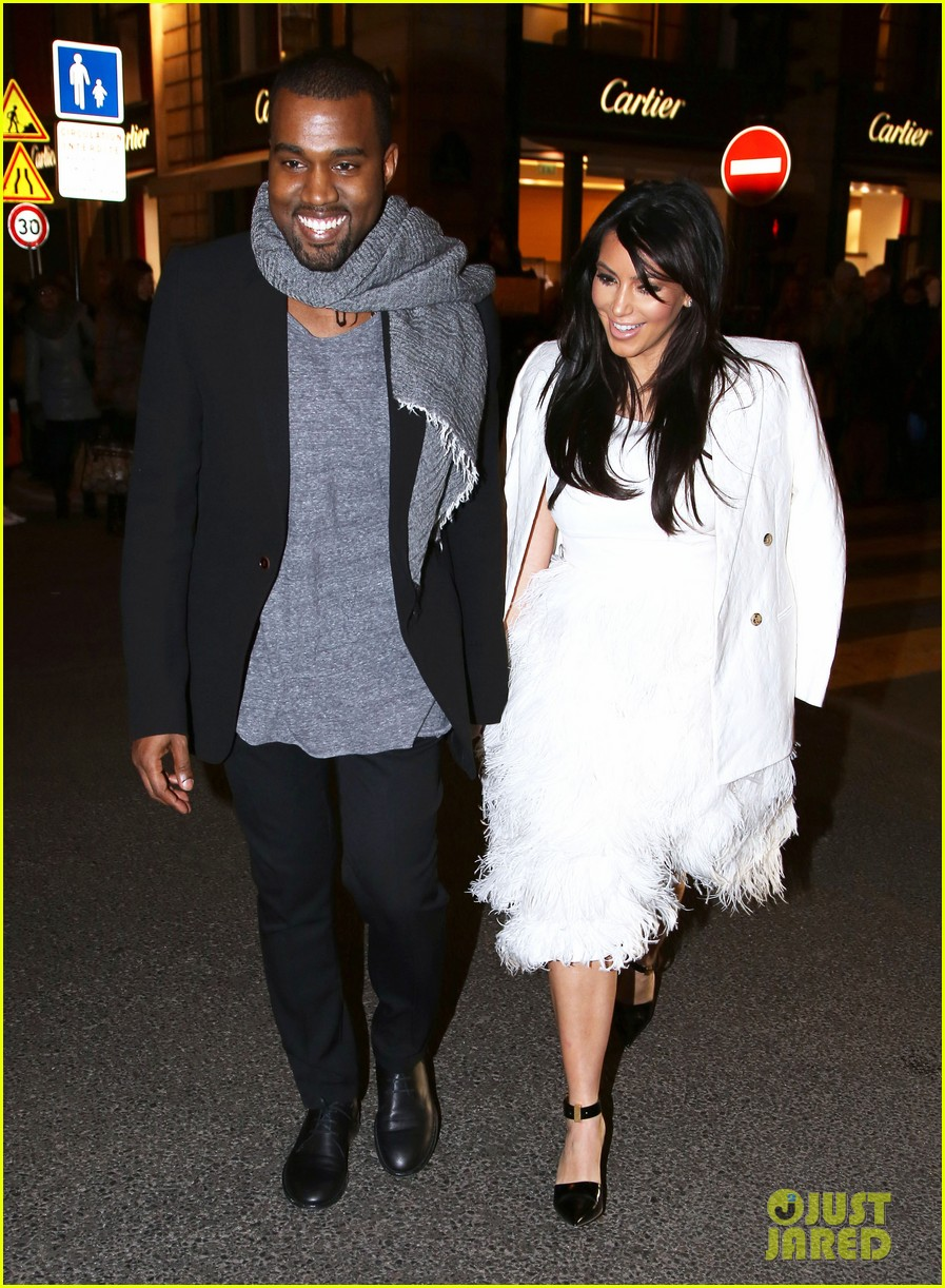 kim kardashian kanye west day off in paris 12