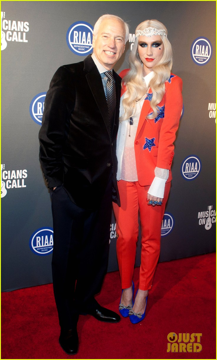 kesha red white blue for riaa inaugural ball 2013 03
