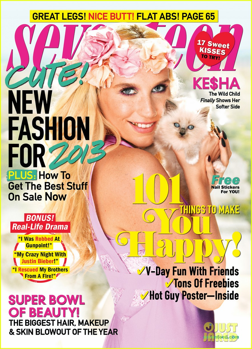 kesha covers seventeen february 2013 012783895