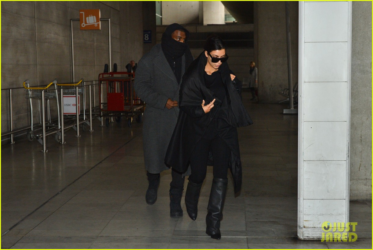 pregnant kim kardashian kanye west back in paris 05