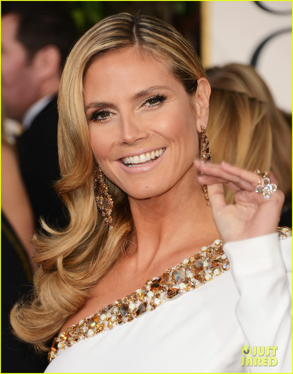 heidi klum golden globes 2013 red carpet 04 Tress Talk: Side Part Domination at the Golden Globes