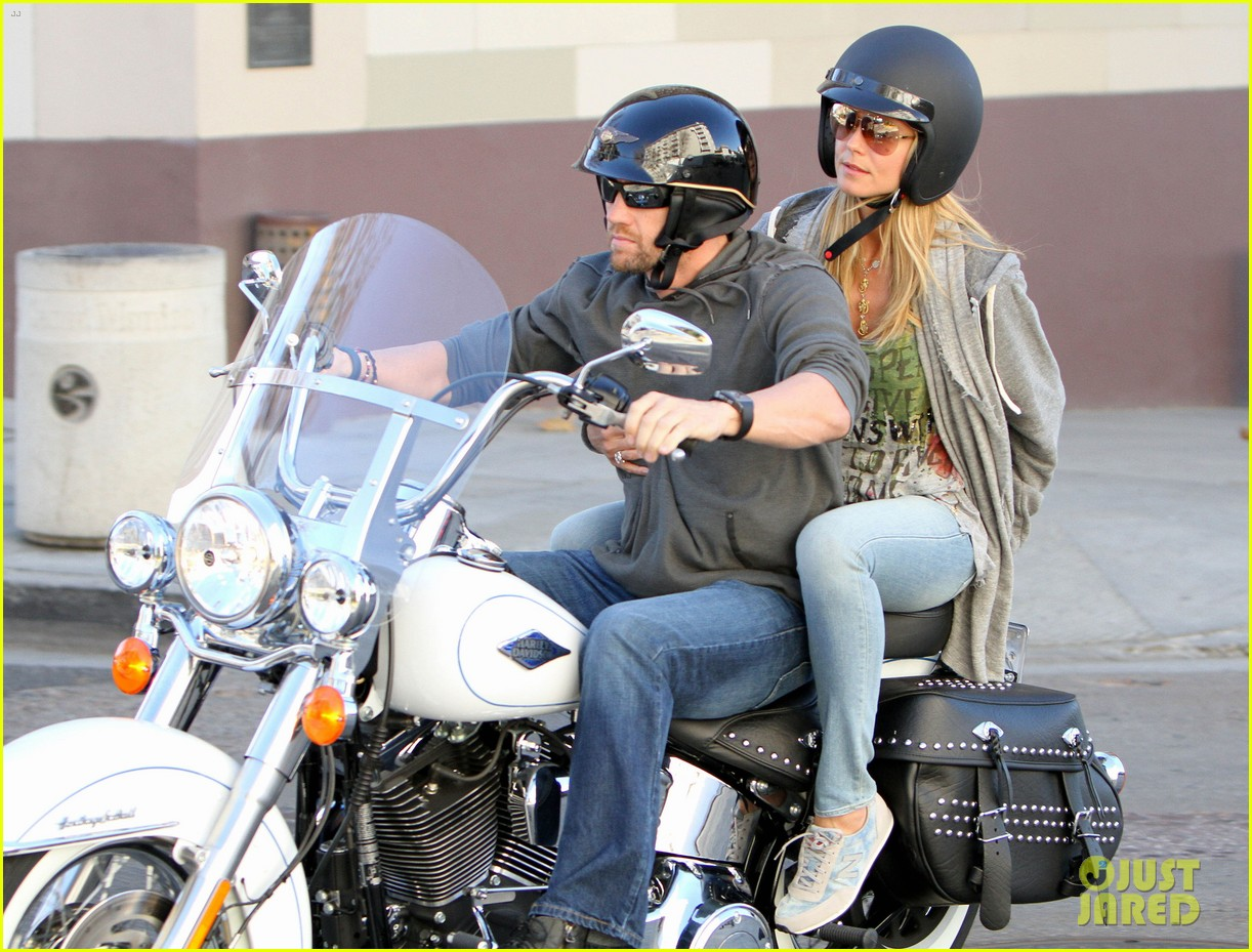 heidi klum martin kirsten motorcycle couple 21