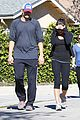 ashton kutcher mila kunis saturday morning walk 01