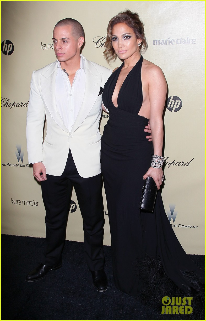 jennifer lopez casper smart golden globes parties 2013 05