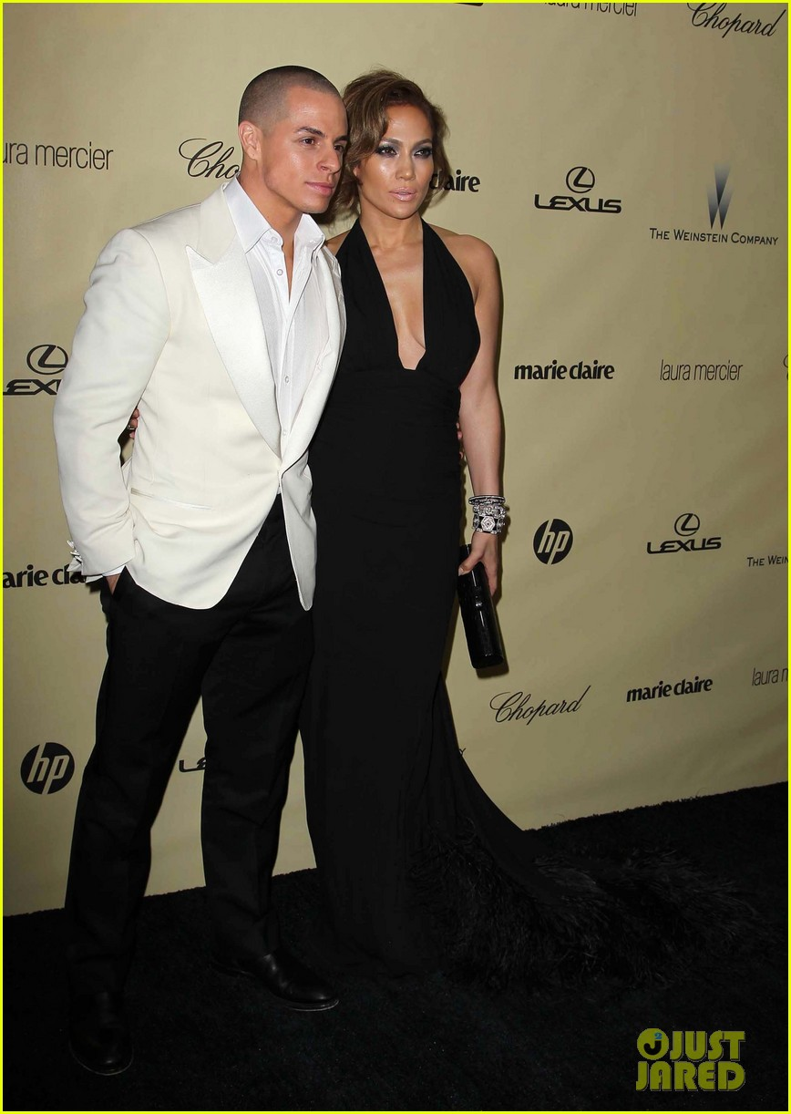 jennifer lopez casper smart golden globes parties 2013 14
