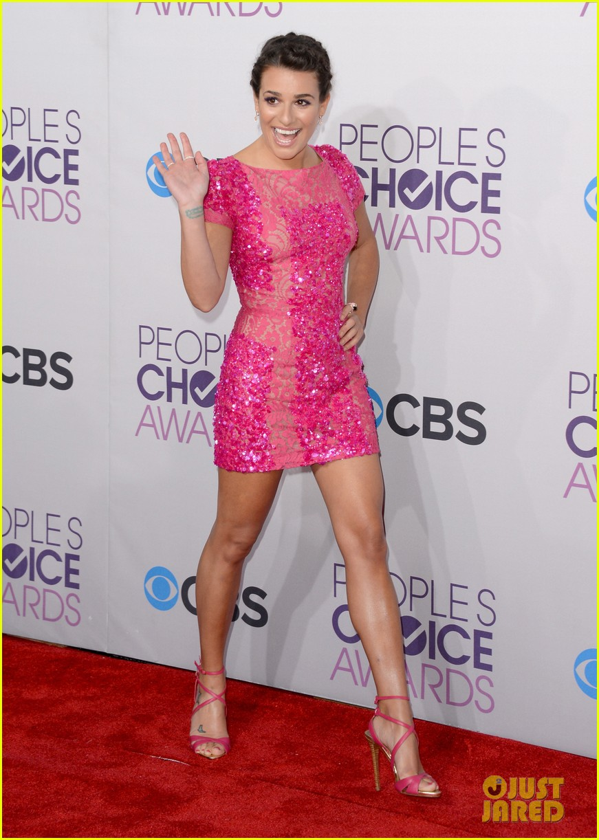 lea michele peopels choice awards 2013 red carpet 052787743