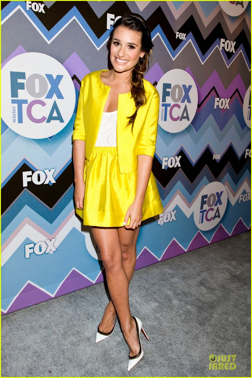 lea michele tca fox all star party with glee cast 132787377