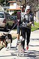 miley cyrus hoodie walk with pet pooch 14