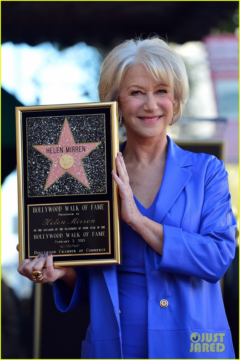 helen mirren receives star on hollywood walk of fame 072784349