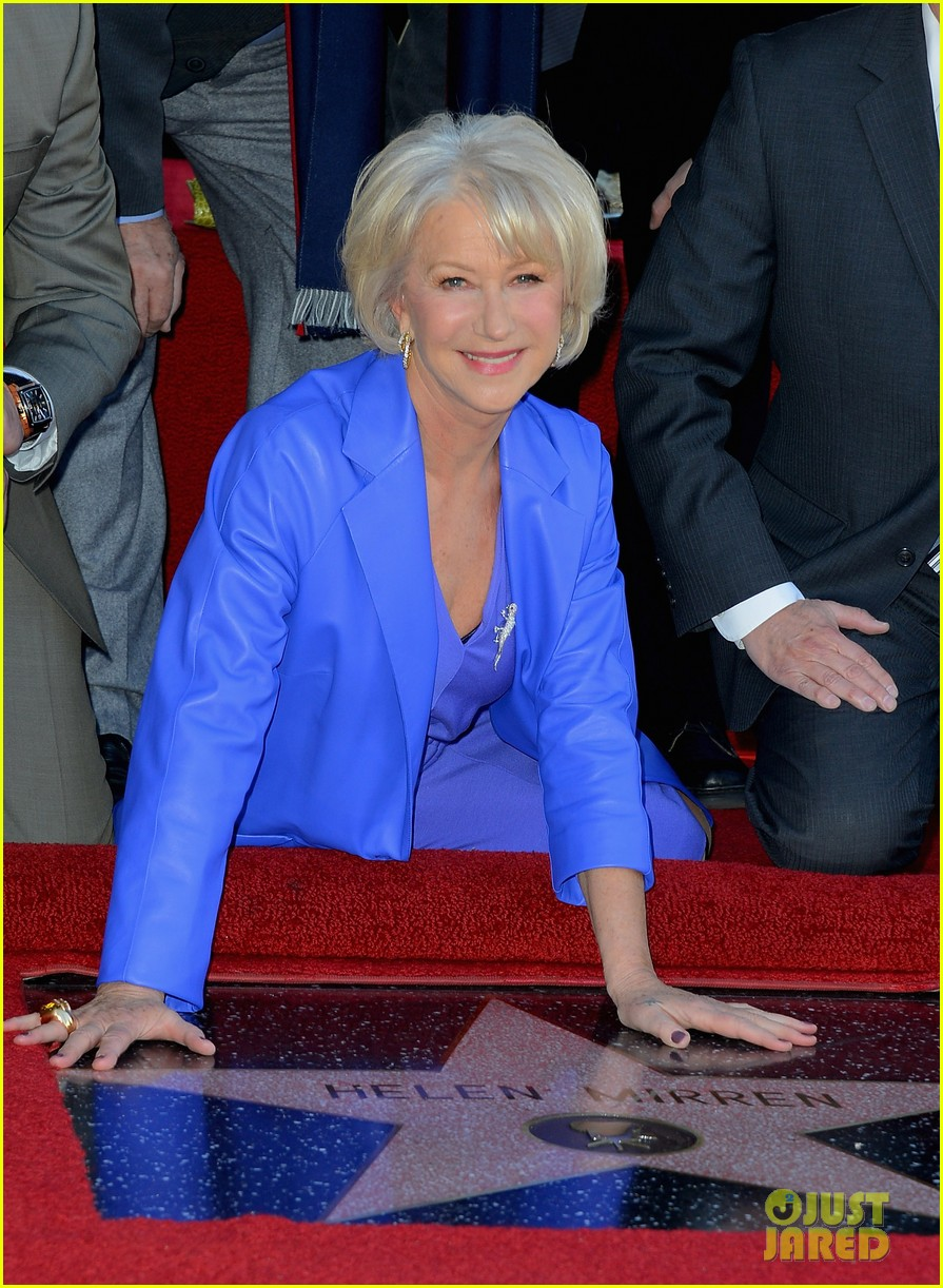 helen mirren receives star on hollywood walk of fame 10
