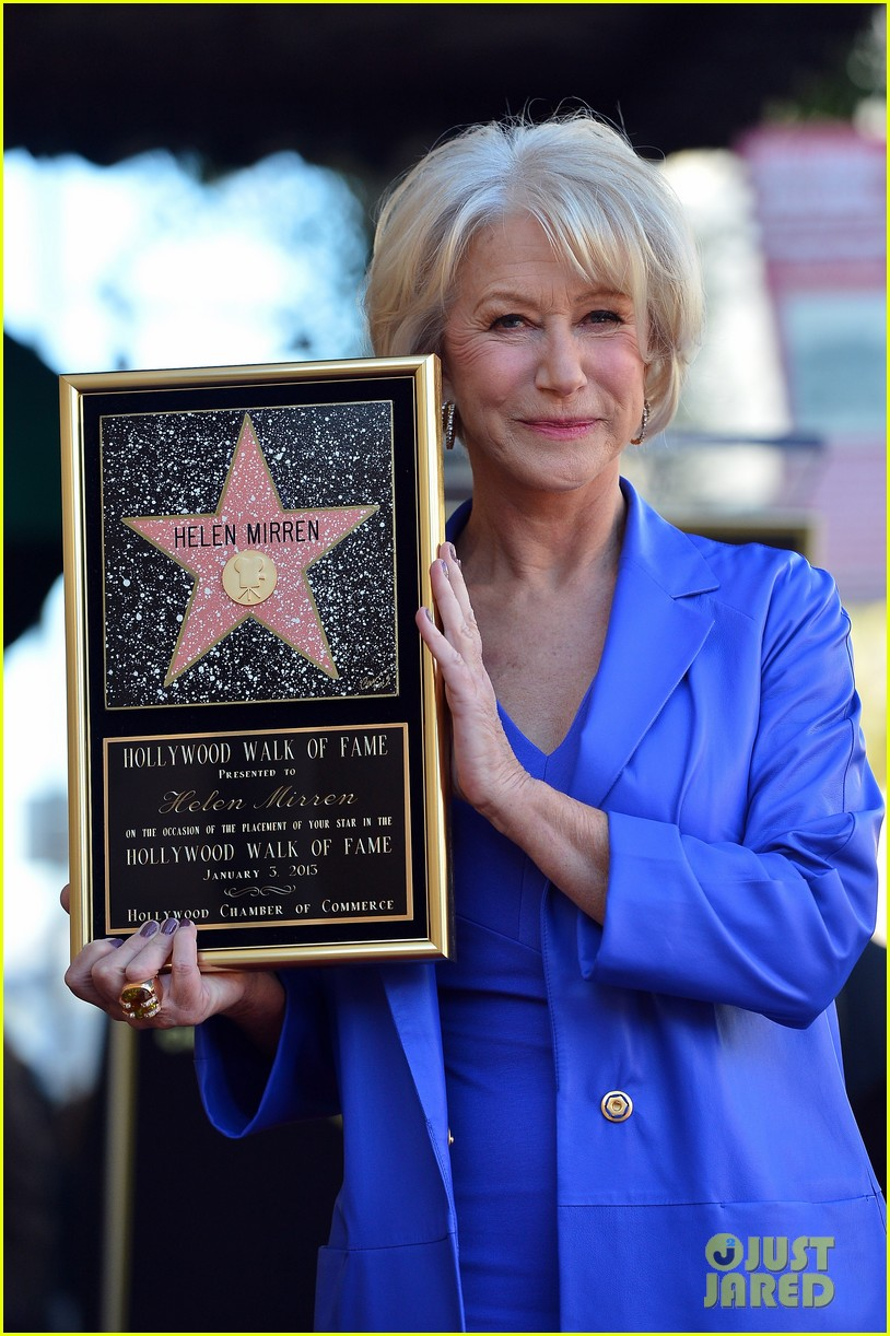 helen mirren receives star on hollywood walk of fame 142784356