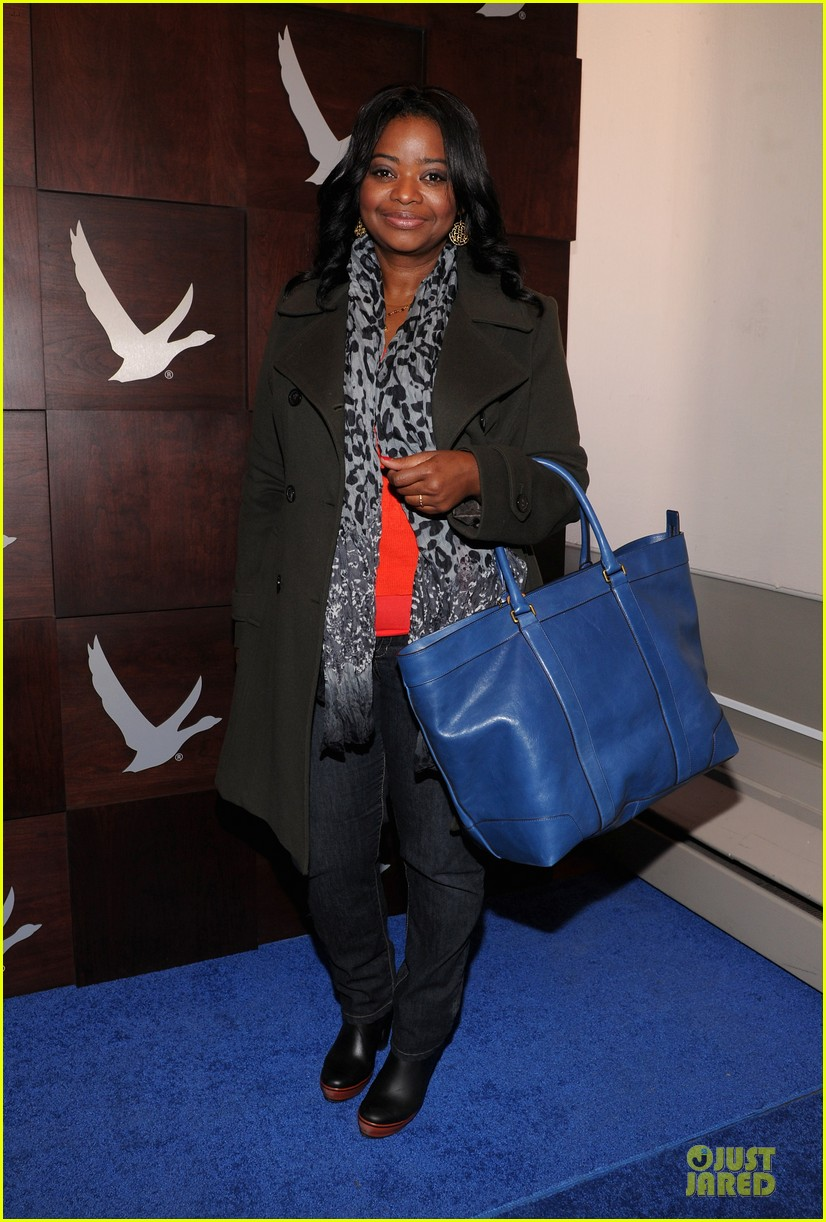 octavia spencer new york cares coat drive supporter at sundance 01