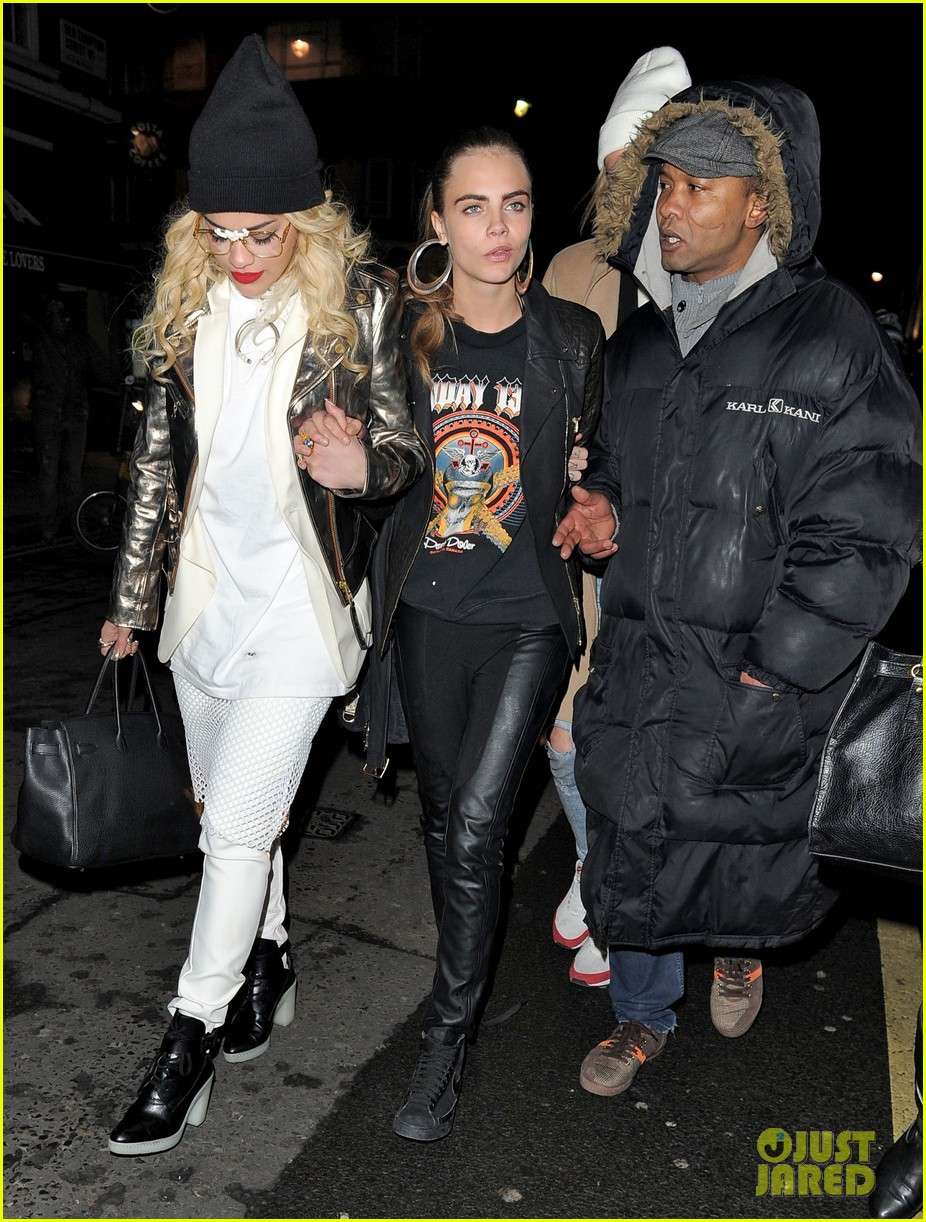 rita ora cara delevingne girls night out 12
