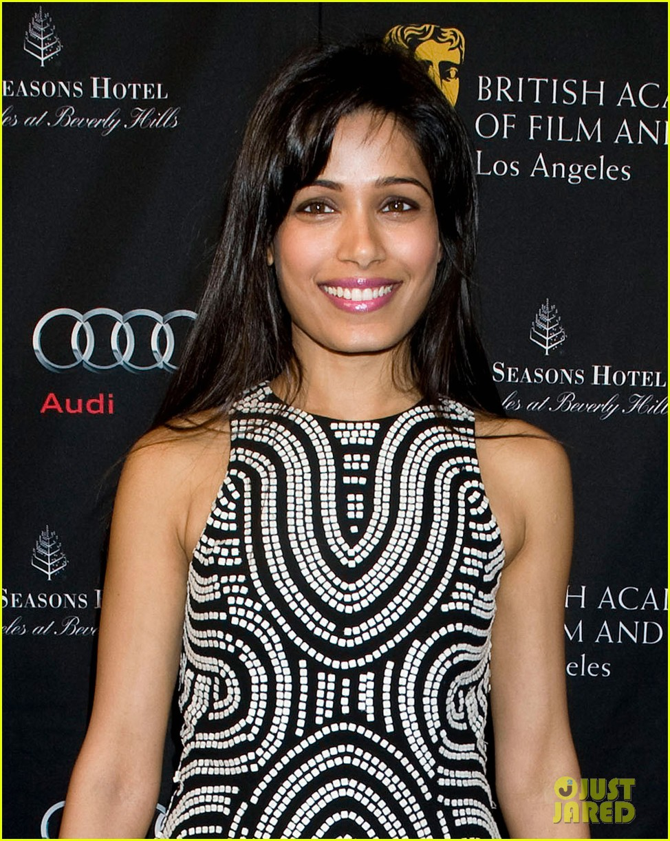 freida pinto dev patel bafta tea party 2013 02
