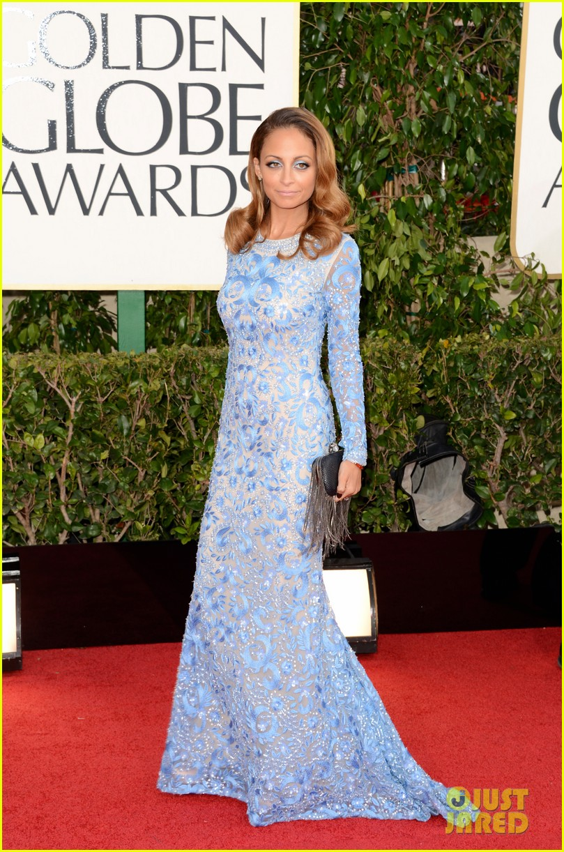 nicole richie golden globes 2013 red carpet 01