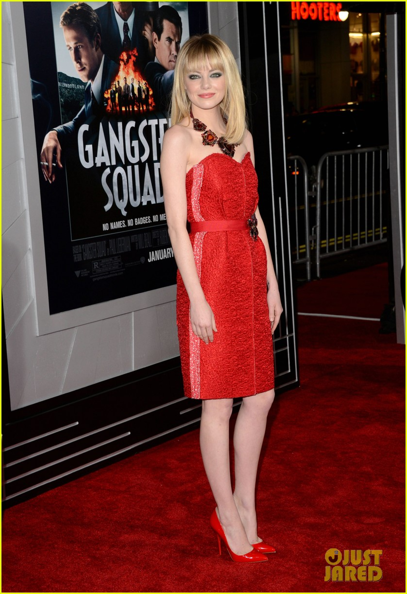 emma stone ryan gosling gangster squad premiere 01