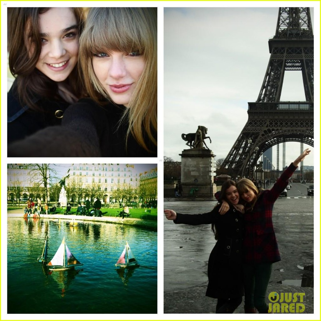 taylor swift hailee steinfeld paris sightseeing pair 02