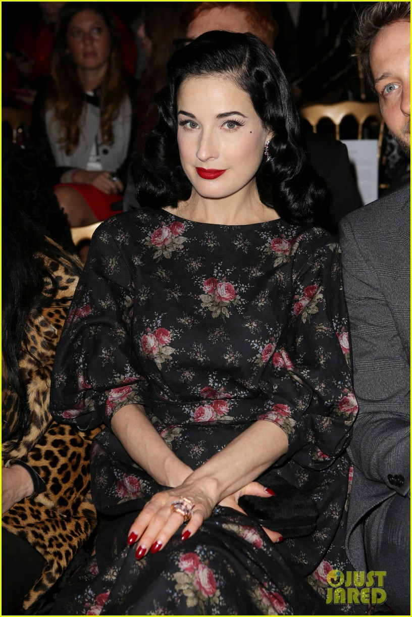 dita von teese elie saab yuliana sergenko shows in paris 05