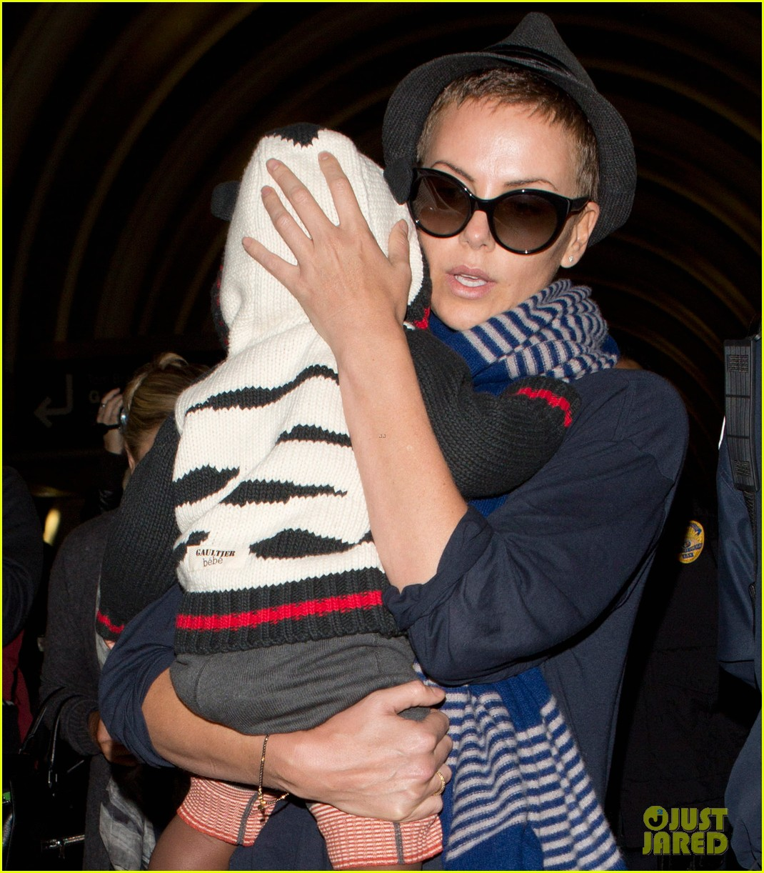 charlize theron lax arrival with jackson 052786103