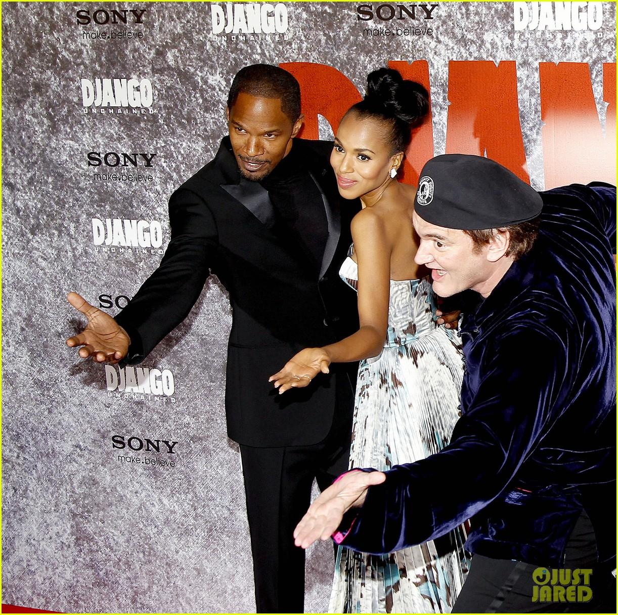kerry washington jamie foxx django unchained paris premiere 05