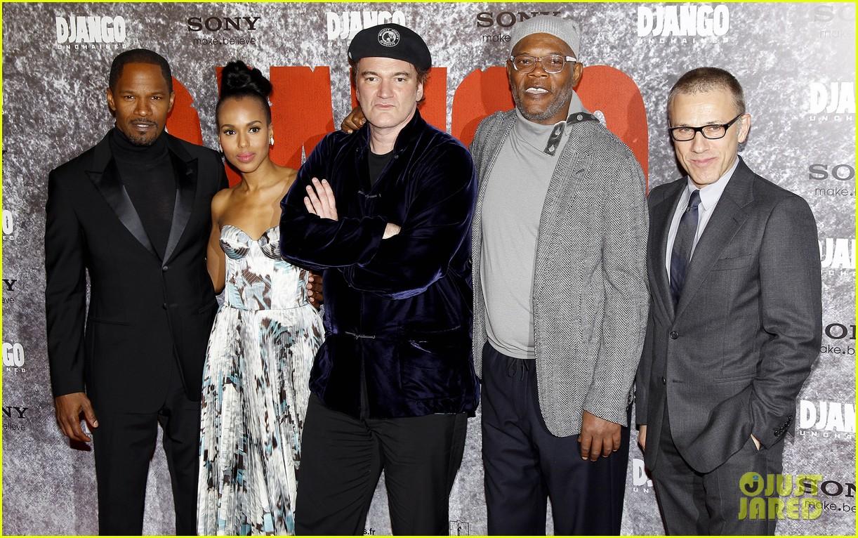 kerry washington jamie foxx django unchained paris premiere 06