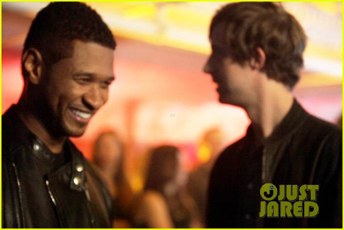 usher mercedes benz super bowl commercial exclusive pics 012792640