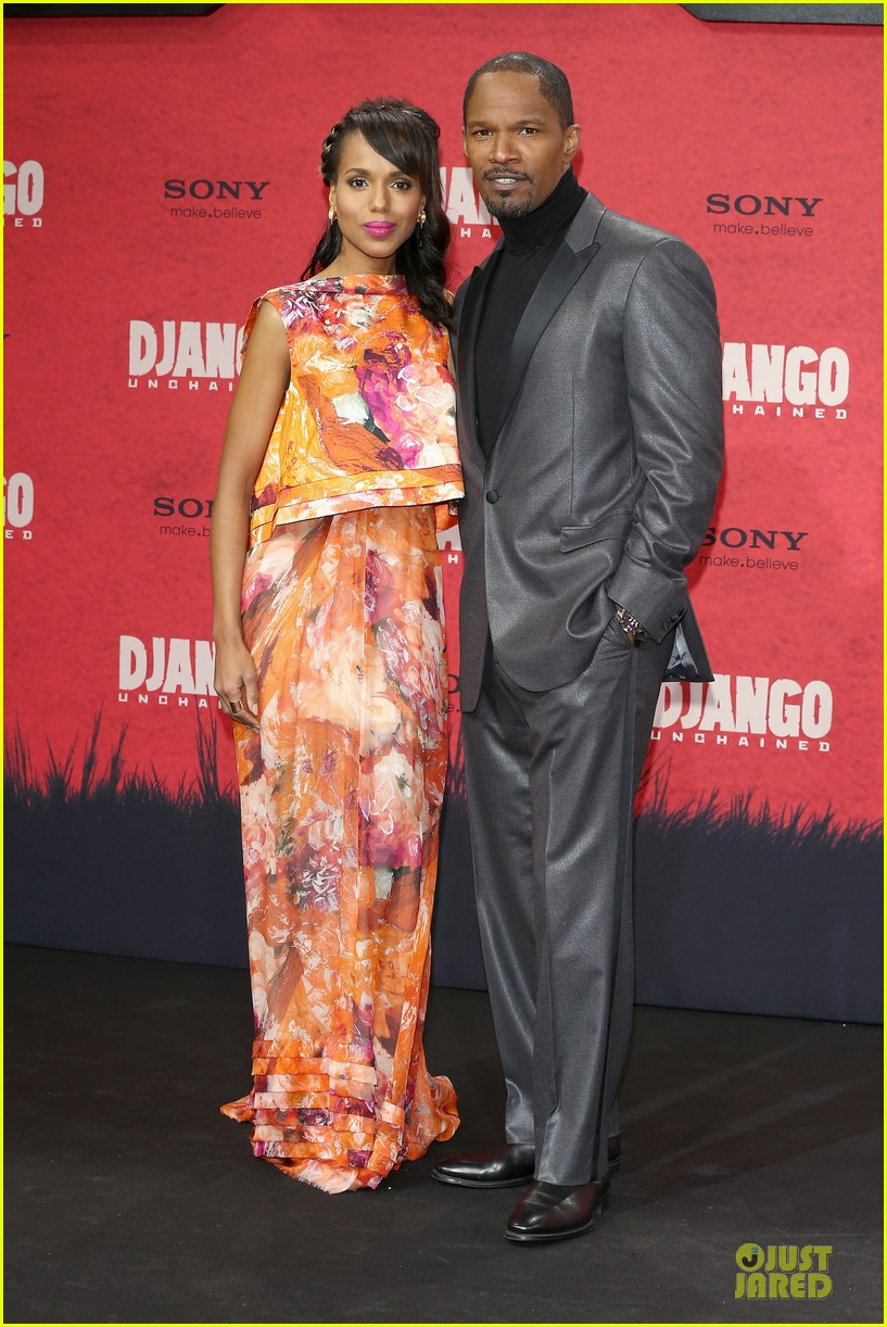 kerry washington & jamie foxx django unchained berlin premiere 11