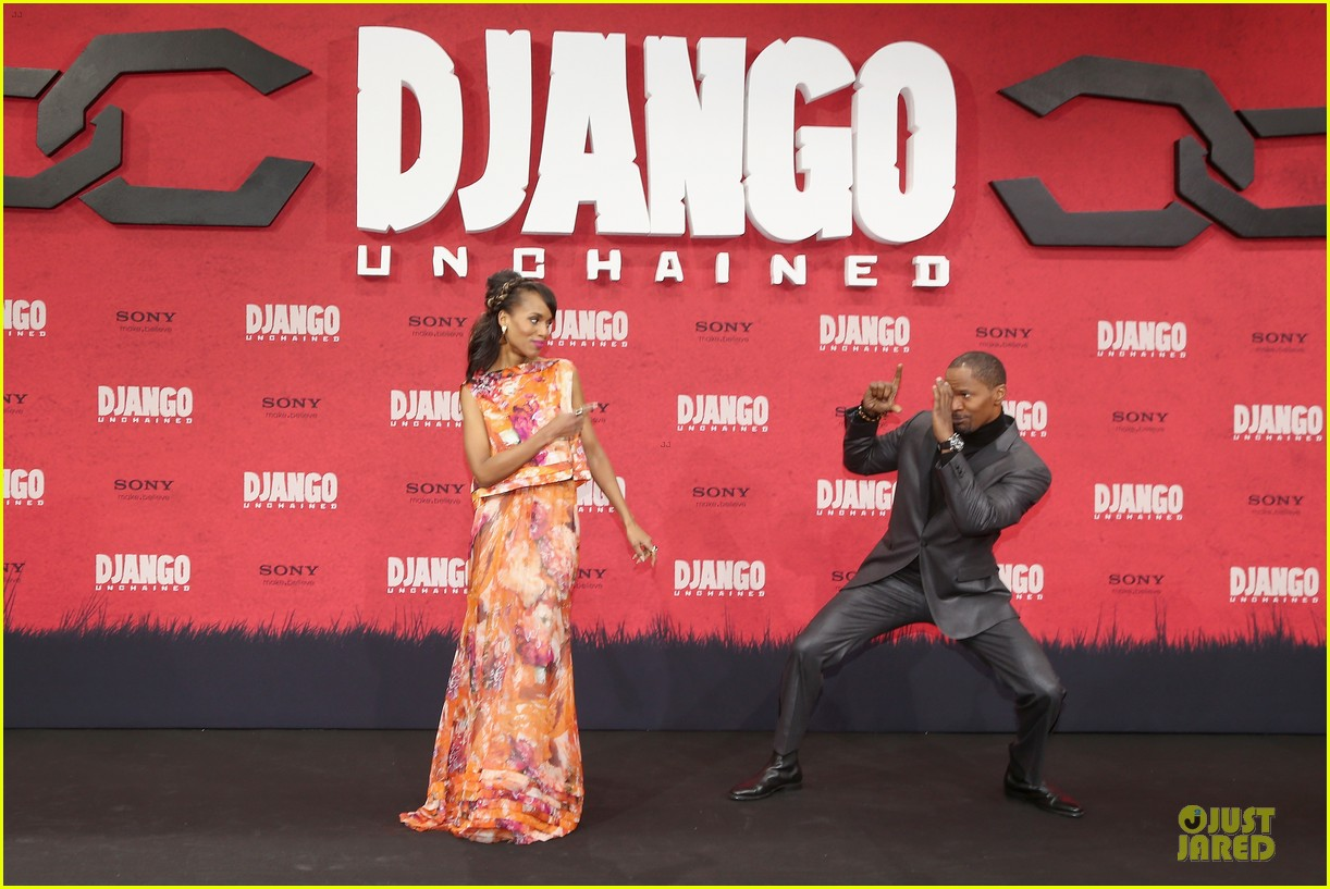 kerry washington & jamie foxx django unchained berlin premiere 12