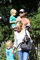 naomi watts liev schreiber sunday with kids 11