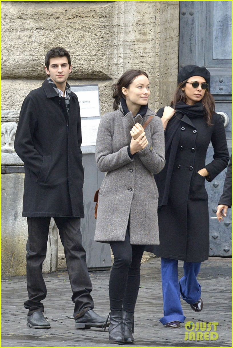 olivia wilde flashes engagement ring on third person set 17