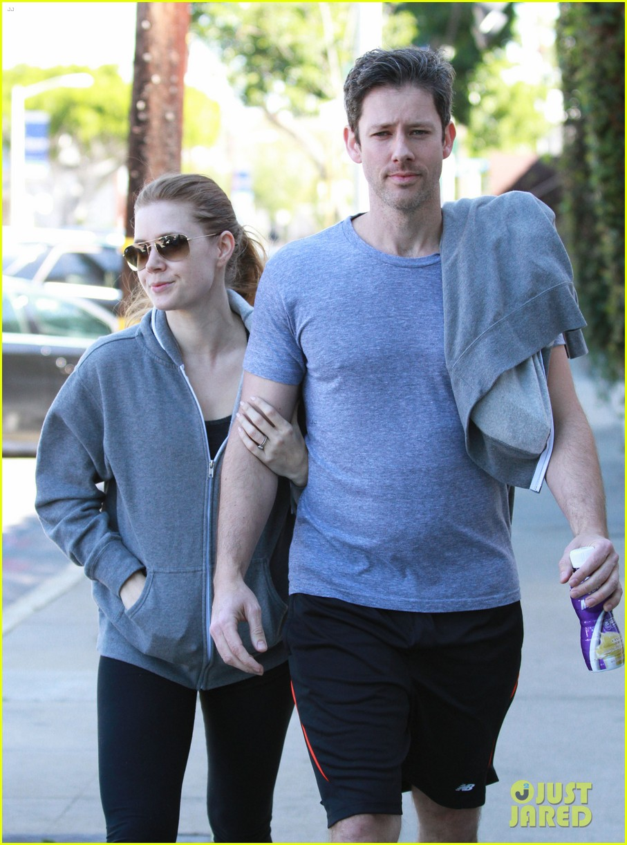 amy adams darren le gallo weho workout twosome 022816359