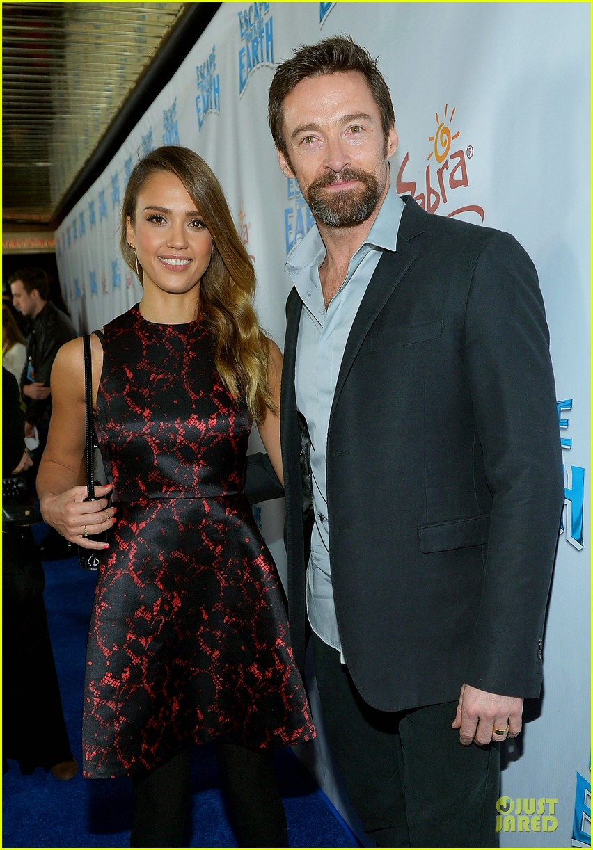 jessica alba hugh jackman escape from planet earth los angeles premiere 02