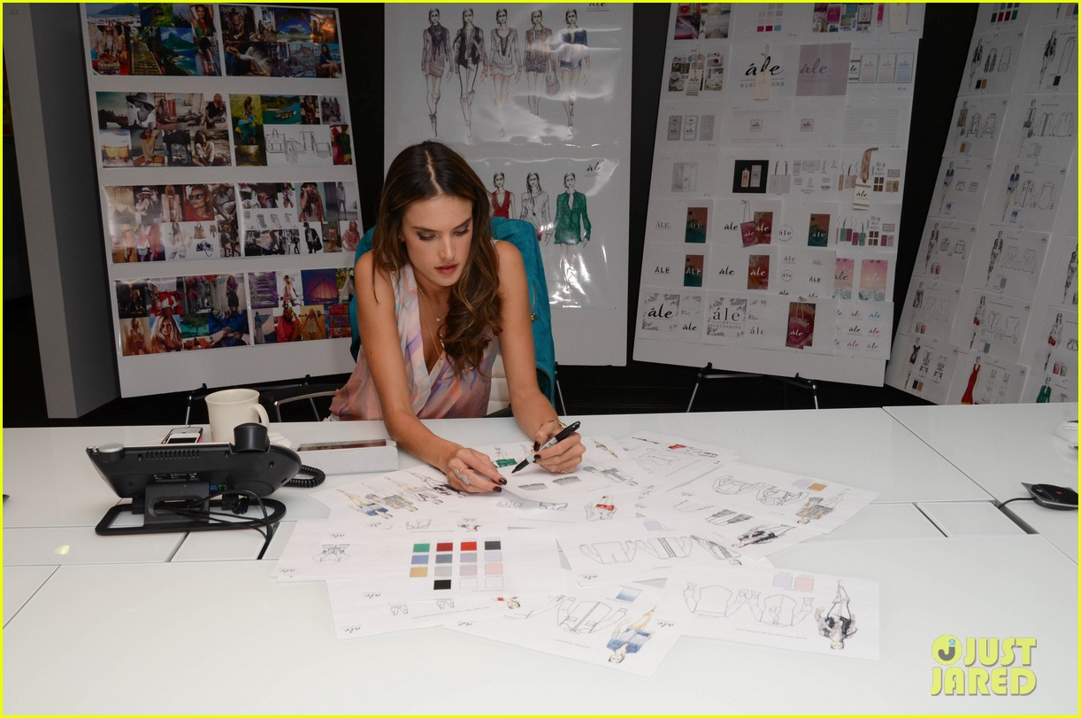 alessandra ambrosio works on ale by alessandra designs 162806130
