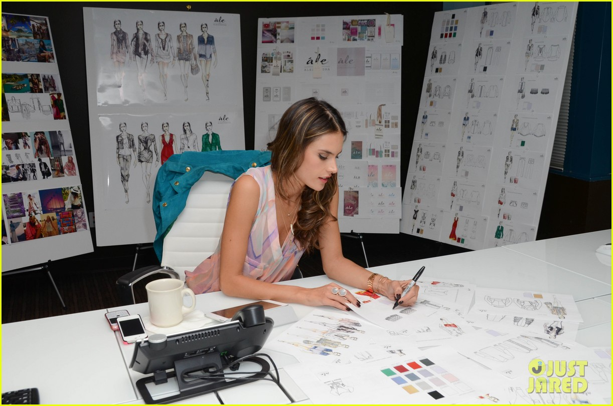 alessandra ambrosio works on ale by alessandra designs 172806131