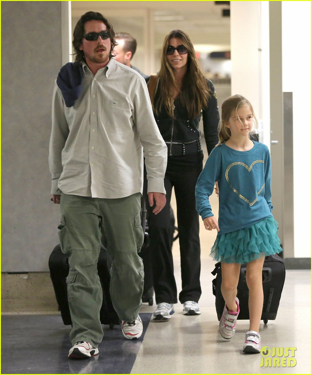 christian bale post birthday family flight 10