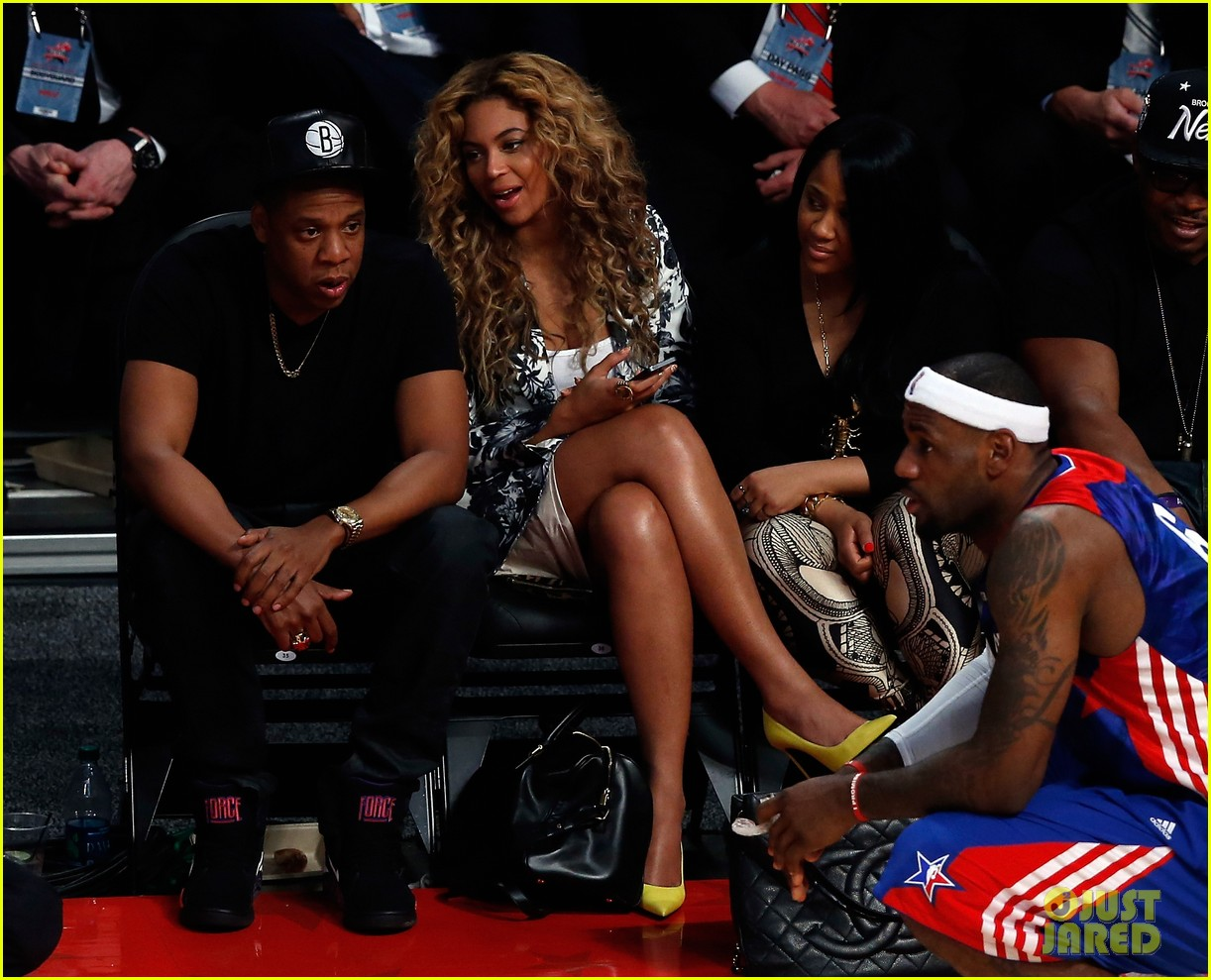 beyonce jay z nba all star game 01