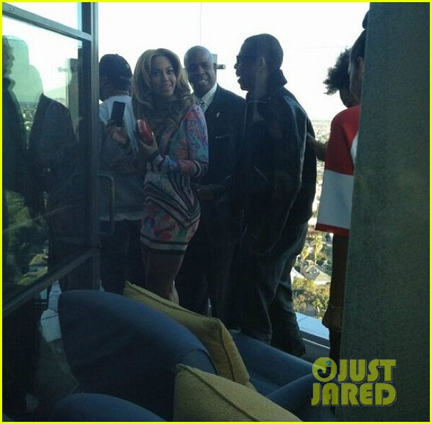 beyonce solange knowles roc nation pre grammy party 2013 08