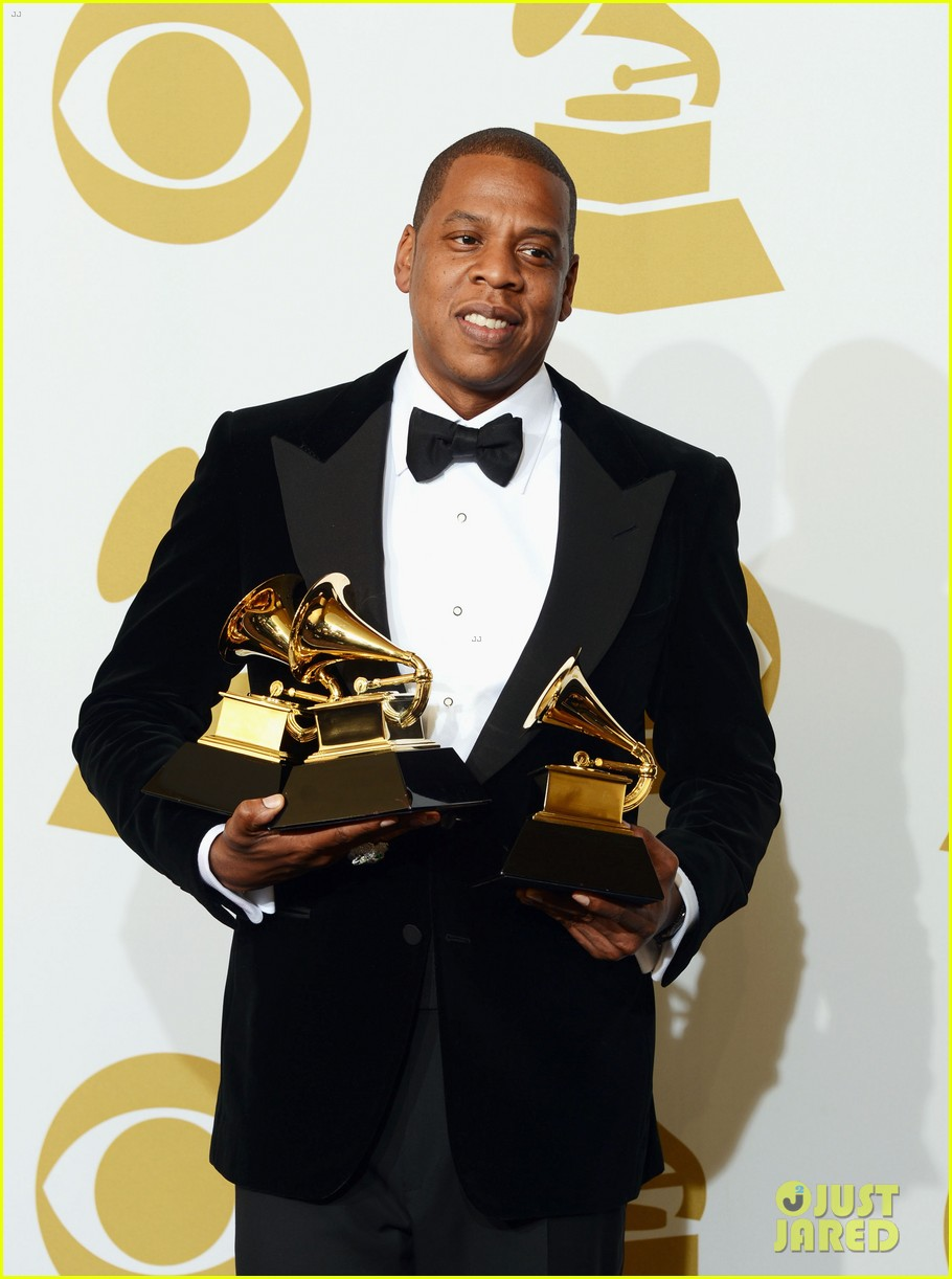 beyonce jay z grammys 2013 winners room photos 04