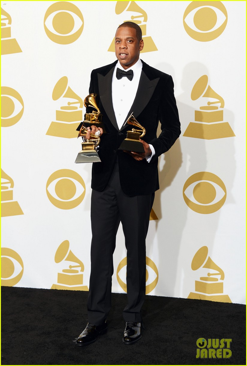 beyonce jay z grammys 2013 winners room photos 05