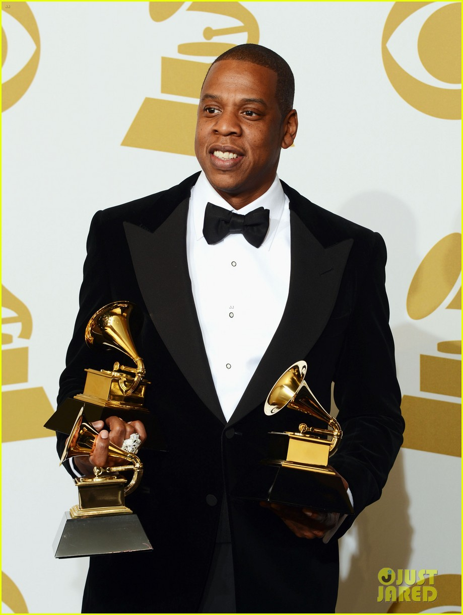 beyonce jay z grammys 2013 winners room photos 18
