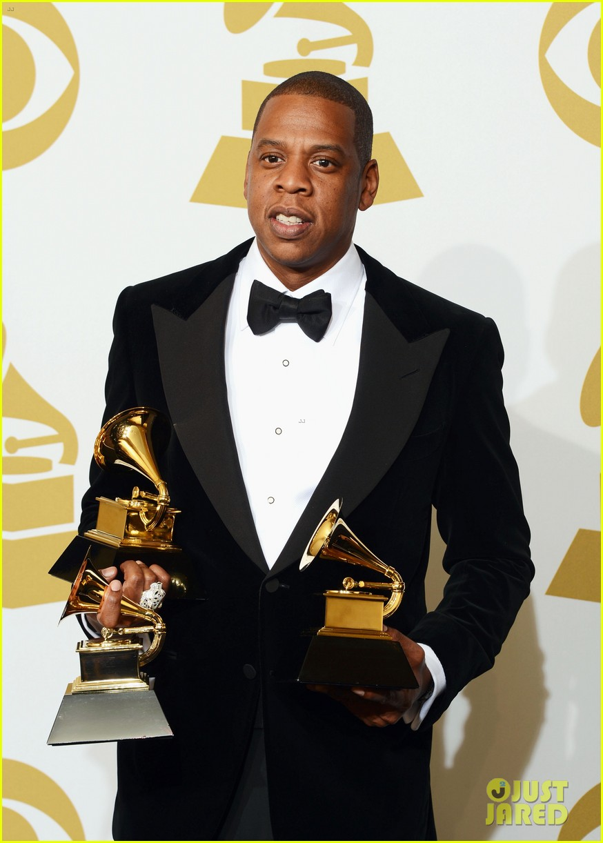 beyonce jay z grammys 2013 winners room photos 202809648