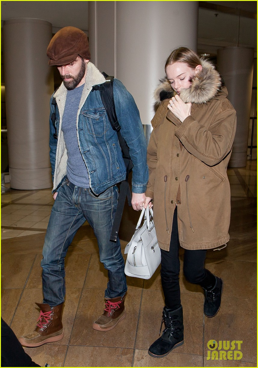 kate bosworth lax arrivial with michael polish 07