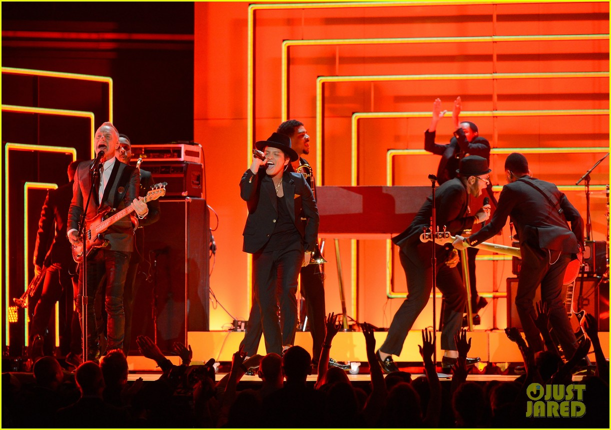 bruno mars sting grammys 2013 performance watch now 012809562