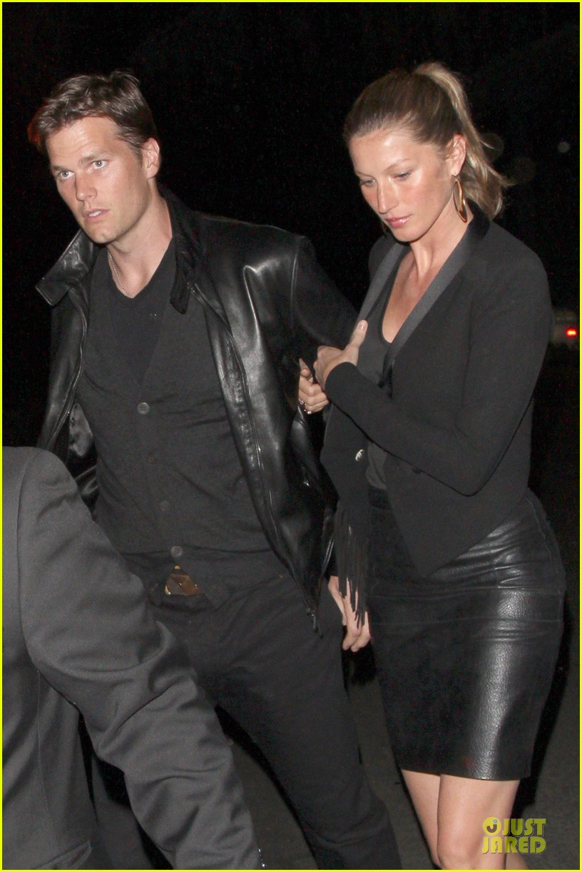 gisele bundchen tom brady pre oscar party in brentwood 022817675